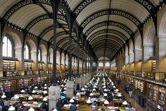 Biblioteca de Sainte Geneviève, París, Labrouste