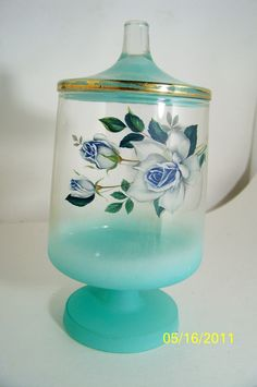 Vintage Apothecary Jar Blendo  Blue by SmakBoutique on Etsy, $15.95