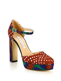 Diane von Furstenberg Mika Mary Jane High-Heel Pumps