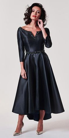 8dde07e076ca Chic Satin Bateau Neckline A-line Mother Of The Bride Dress With Belt    Beadings