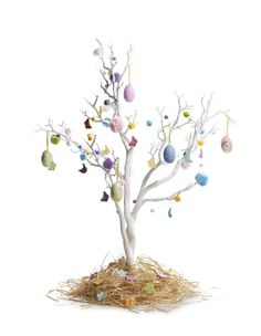 Beautiful Easter decorations and the white tree #hobbycraft #easterdecorations #eastercraft