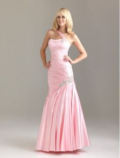prim dresses black with pink accents | ... Shoulder Strap Mermaid Prom Dress with Beaded Embellishment Accents
