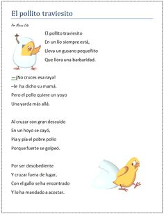 Poema Infantil Rhyming Activities, English Activities, Learning Spanish For Kids, Teaching Spanish, Spanish Lesson Plans, Spanish Lessons, What Rhymes, Teaching Poetry, Bilingual Education