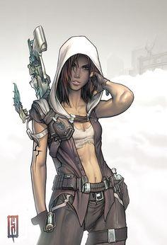 Bionic parts Inspired t Cyberpunk Fantasy art and Sci fi Fantasy Anime, Fantasy Girl, Fantasy Dragon, Character Concept, Character Art, Concept Art, Character Design Cartoon, Character Design Inspiration, Steam Punk