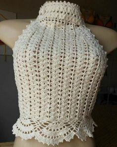 You can select a different color from the set in the basket. I use only the highest quality materials and craftsmanship in their products. These excellent products will bring joy to you and your family. Crochet Halter Tops, Crochet Bikini Top, Crochet Shirt, Knit Crochet, Learn To Crochet, Crochet Clothes, Crochet Projects, Crochet Patterns, Creations