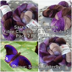 Crafts of Texture: Sara's Texture Crafts Fibre Club #6 and Yarn Club #2, Pack 2 REVEALED!
