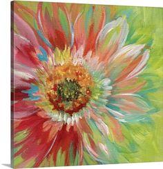 Nan F Premium Thick-Wrap Canvas Wall Art Print entitled Bright Sunburst, None