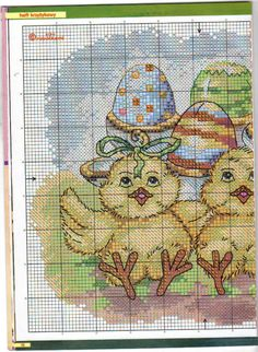 Easter Chicks with Eggs Chart 1