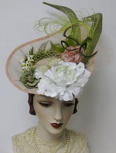 Spring Garden Derby Hat by OrsiniMedici on Etsy, $295.00