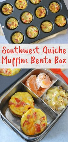 These Southwest quiche muffins are a great meal prep recipe packed full of protein and veggies. Make a batch for easy breakfasts all week, or these fun breakfast theme bento boxes!