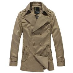2012 casual double breasted long windbreak trench coat outerwear