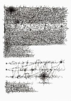 Asemic writing by Ariel Gonzalez Losada