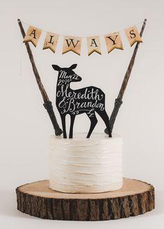 Always - Harry Potter Inspired Wedding Cake Topper by TinyPlaidSheep on Etsy https://www.etsy.com/listing/211410403/always-harry-potter-inspired-wedding