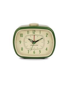 Reloj despertador de estilo retro de color verde