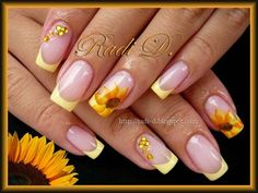 Sunflowers by RadiD - Nail Art Gallery nailartgallery.nailsmag.com by Nails Magazine #nailart