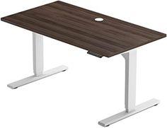 Amazon.com: Progressive Desk Electric Standing Desk, Dual Motor Adjustable Height Stand up Desk 48x30 - Dark Walnut, White Frame: Home & Kitchen Electric Standing Desk, Stand Up Desk, Home Office Desks, Dark Walnut, Herman Miller, Home Kitchens, Ikea, Dining Table, Amazon