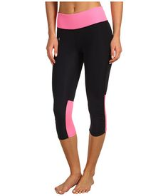 Under Armour UA Fly-By Compression Capri Black/Fluo Pink/Reflective - Zappos.com Free Shipping BOTH Ways