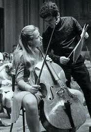 Jaqueline du Pre and Daniel Barenboim; She was the most amazing cellist, she could play anything. But her life cut short by MS.