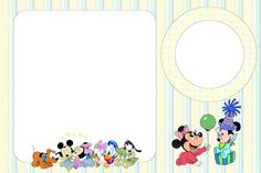 Baby Disney Unisex - Kit Completo com molduras para convites, rótulos para guloseimas, lembrancinhas e imagens!