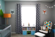 Modern Adventure Inspired Nursery with Woodland Accents - amazing color and design!