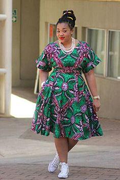 Ankara Xclusive: Beautiful Ankara African Print Style For Plus Size Ladies African Fashion Ankara, African Fashion Designers, Latest African Fashion Dresses, African Print Fashion, Africa Fashion, African Style, Indian Style, Short African Dresses, Ankara Short Gown Styles