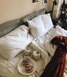 Sunday morning cinnamon rolls and coffee