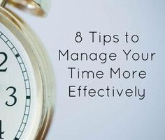 A friend recently told me I used my time more effectively than anyone else she knew. I don't know if I personally always feel this way, but I will say that I thrive on being busy.