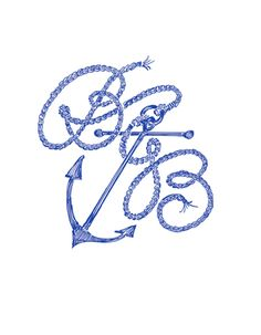 Nautical Monogram Idea  Monogramming now available at the shoppes at Ashley Carol in historic downtown Cornelius NC 704 892 4743