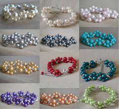 Custom wedding bracelet rhinestone bracelet 20 por glasspearlstore