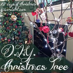 DIY Christmas Tree from dead branches on icandotht.com!