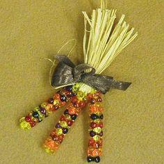 clay pot crafts for christmas | Craft Club - Nov 2008 - Clay Pot Pilgrim & Indian Corn Pin ...