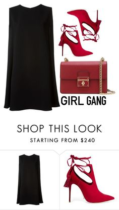 """Girl Gang"" by cherieaustin ❤ liked on Polyvore featuring McQ by Alexander McQueen, Schutz, Dolce&Gabbana, women's clothing, women, female, woman, misses, juniors and galentinesday"
