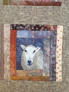 Sheep quilt detail.. This gives me an idea for a child's quilt using some sheep fabric in my stash.