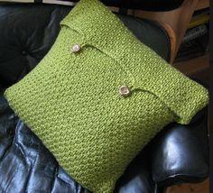 Moss Green Cushion Cover | AllFreeKnitting.com