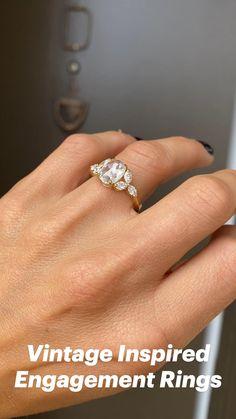 Vintage Inspired Engagement Rings, Bling, Jewelry, Jewel, Jewlery, Jewerly, Schmuck, Jewels, Jewelery