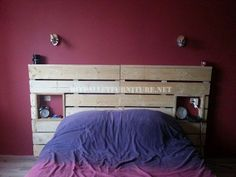 4 good examples of pallet bed headboards