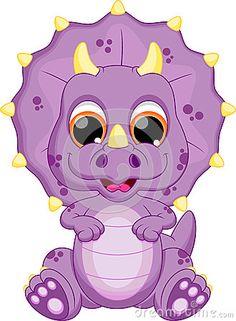 Desenhos animados do dinossauro do bebê