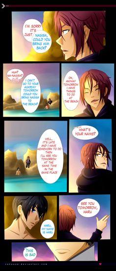 RinHaru: A Mermaid Tale 17 by Zakuuya.deviantart.com on @DeviantArt  RinHaru / HaruRin | Rin Matsuoka and Haruka Nanase from Free! Iwatobi Swim Club / Eternal Summer | Doujinshi / Comic | Manga / Anime | Fan Art | Yaoi | BL