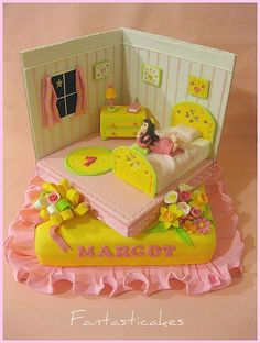 Thank you for visiting , Kids Bedroom Cake Food Picture, we hope you can find what you need here. Just for your information, Kids Bedroom Ca. Teen Cakes, Girly Cakes, Fancy Cakes, Crazy Cakes, Mini Cakes, Spa Party Cakes, Bed Cake, One Tier Cake, Foundant