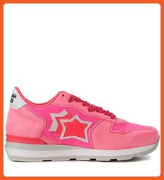 Atlantic Stars Women's Atlantic Stars Vega Fuchsia Fabric And Leather Sneaker 38(IT)-8(US) Pink - Sneakers for women (*Amazon Partner-Link)
