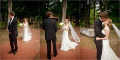 Mississippi wedding photography of a bride's first look in Oxford, MS