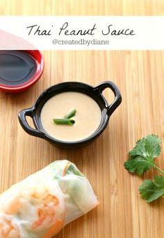 Thai Peanut Sauce @createdbydiane