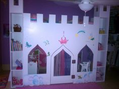 Princess Castle bed, ladder on the side