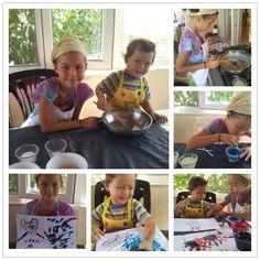 Enjoy messy, creative, fun!  Saw the idea on Pinterest & tried it! Thank you,Easie