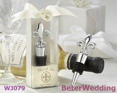 """"""" fleur de lis"""" elegante rolha de garrafa chrome        #casamentos #favoresdocasamento #brindes #presentes #souvenirs #festa #damasdehonra #presentesdobebê"""