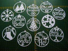 Christmas paper cut templates set of 12 PDF by ClareWillcocksArt