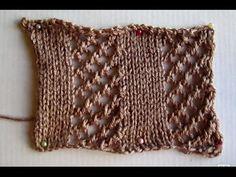 ВЯЗАНИЕ СПИЦАМИ ДЛЯ НАЧИНАЮЩИХ! АЖУРНАЯ РЕЗИНКА №3!Knitting - YouTube