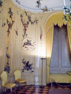 Sans Souci Interior | Voltaire's Bedroom: