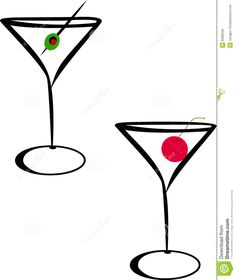 Cartoon Martini Glass Clipart | Blog Line Art Ideas | Pinterest ...