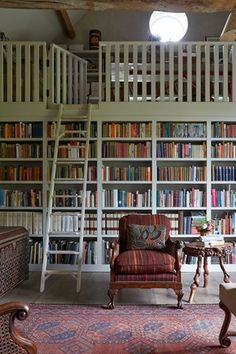 reading room-cum-guest-cottage full of hidden surprises and witty details Emma Burns Barn Conversion Guest Annex Library